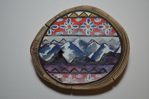 Rocky Mountains on Polish & West African Folk Art