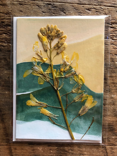 Kale Flower Hand-Painted Card