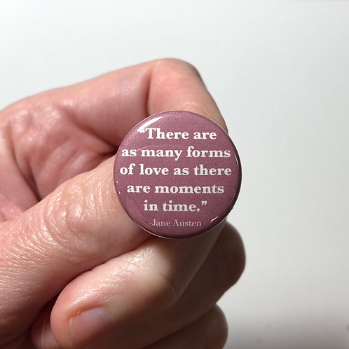 Jane Austen Quote Pin or Magnet