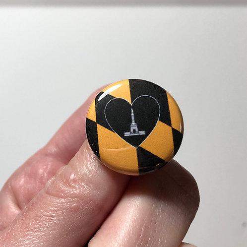 Baltimore Flag Pin or Magnet