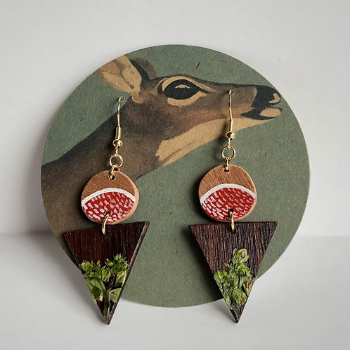 Hand-Painted Chickweed Earrings