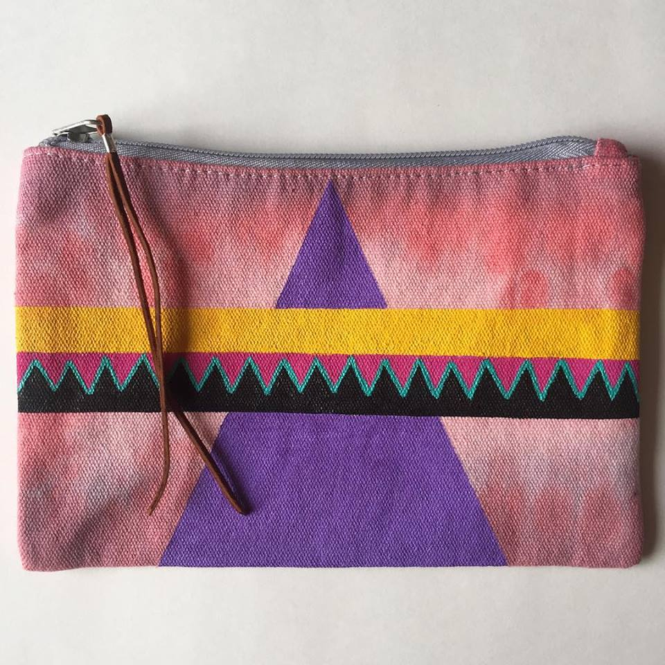 Medium Hand Painted Pouch