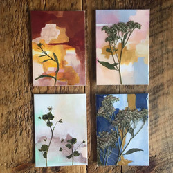 Hand-Painted Cards & Pressed Plants