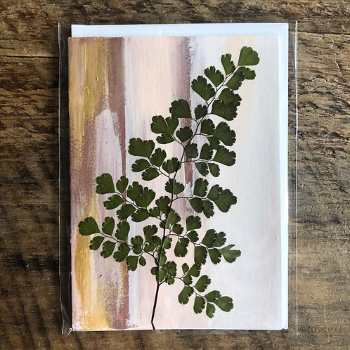 Maiden Hair Fern Hand-Painted Card