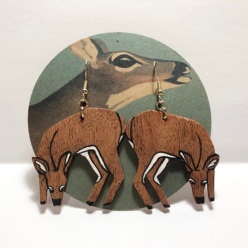 Key Deer Grazing Earrings