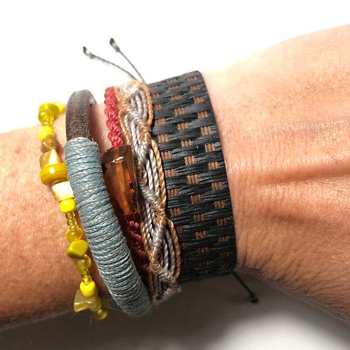 Mocha Woven Grass Bracelet