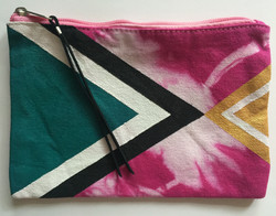 Medium Hand Painted Pouch: Front