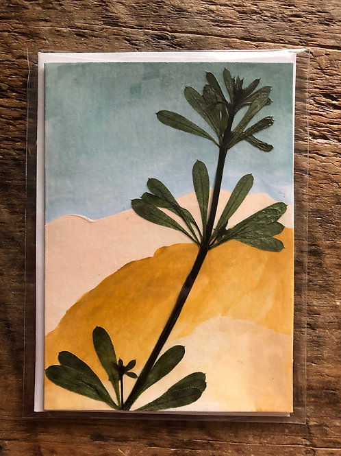 Cleavers Hand-Painted Card