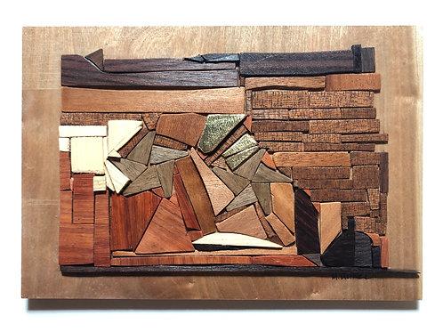 """Mesa Verde National Park"" Reclaimed Wood Mosaic"