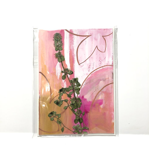 Thyme Hand-Painted Card