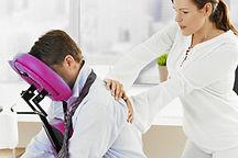 Massage assis bien-être au travail