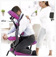 Pause minute massage assis en entreprise