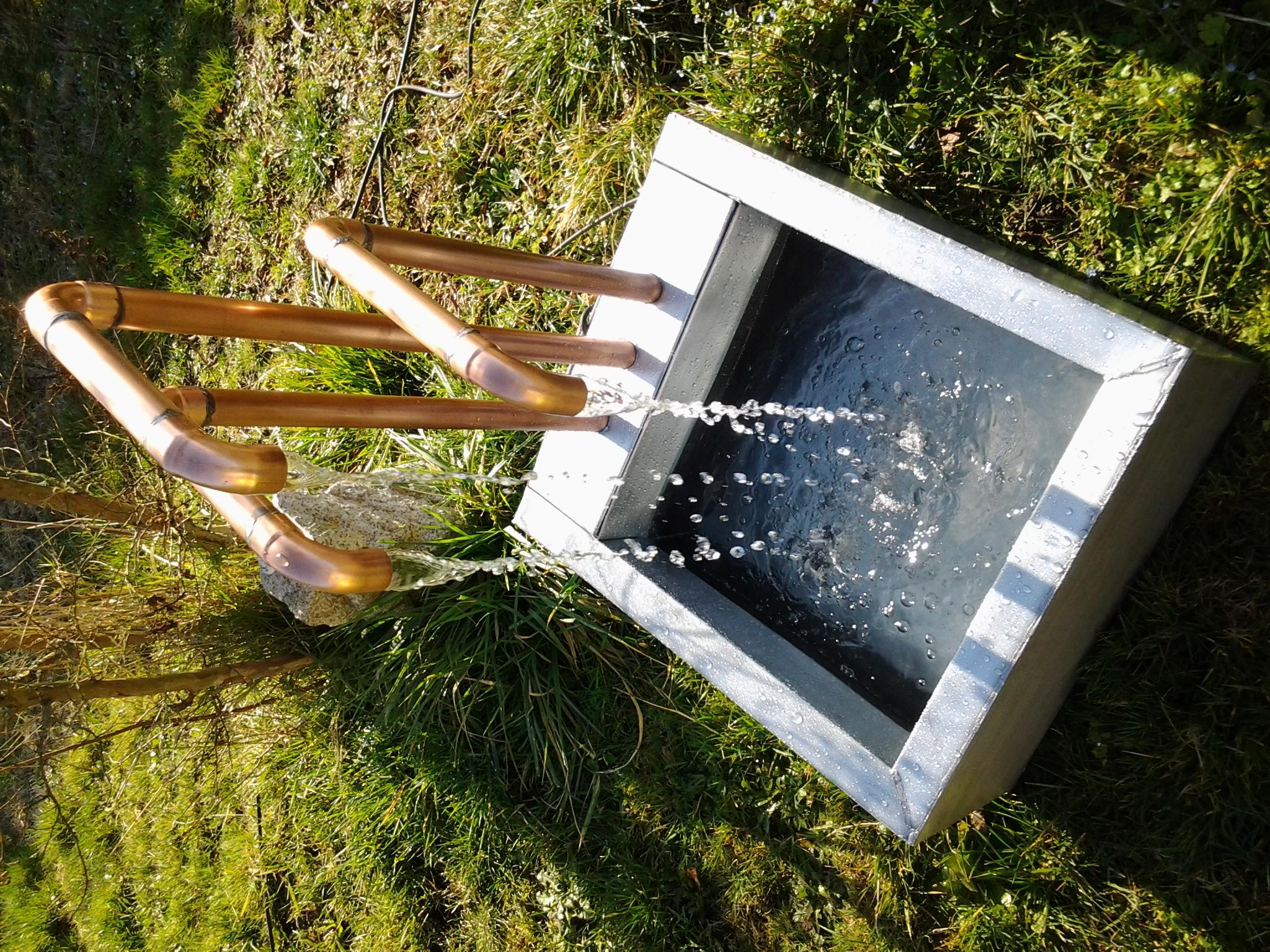 Fontaine cuivre et zinc