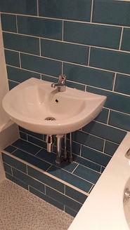basin and wall tiling