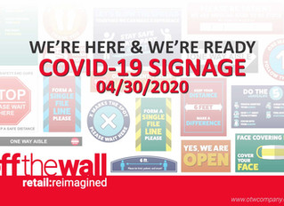 Off The Wall Releases Covid-19 Signage Catalogue