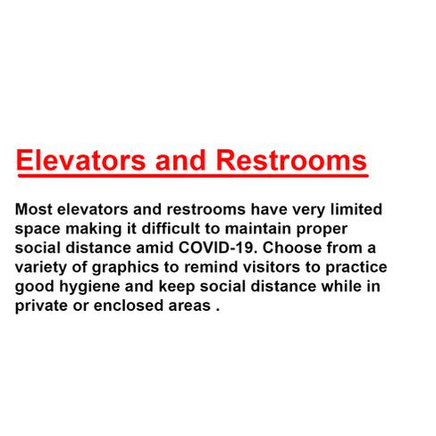 Elevators and Restrooms