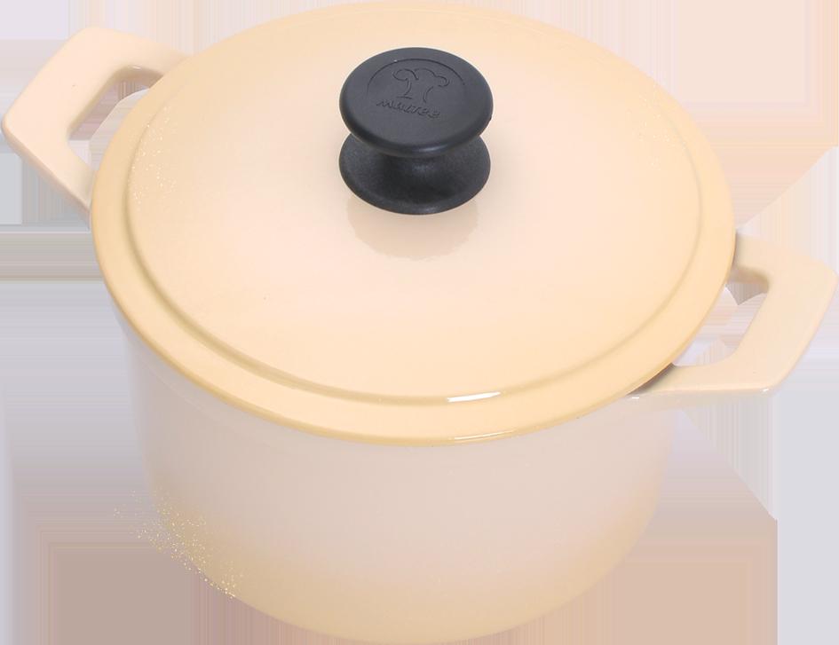 20cm圓鍋-晶鑽黃(側)