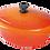 Thumbnail: 饗宴系列32cm橢圓鍋-活力橘【MULTEE摩堤鑄鐵鍋-饗宴系列】