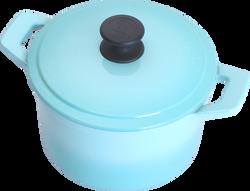 20cm圓鍋-晶鑽藍(側)