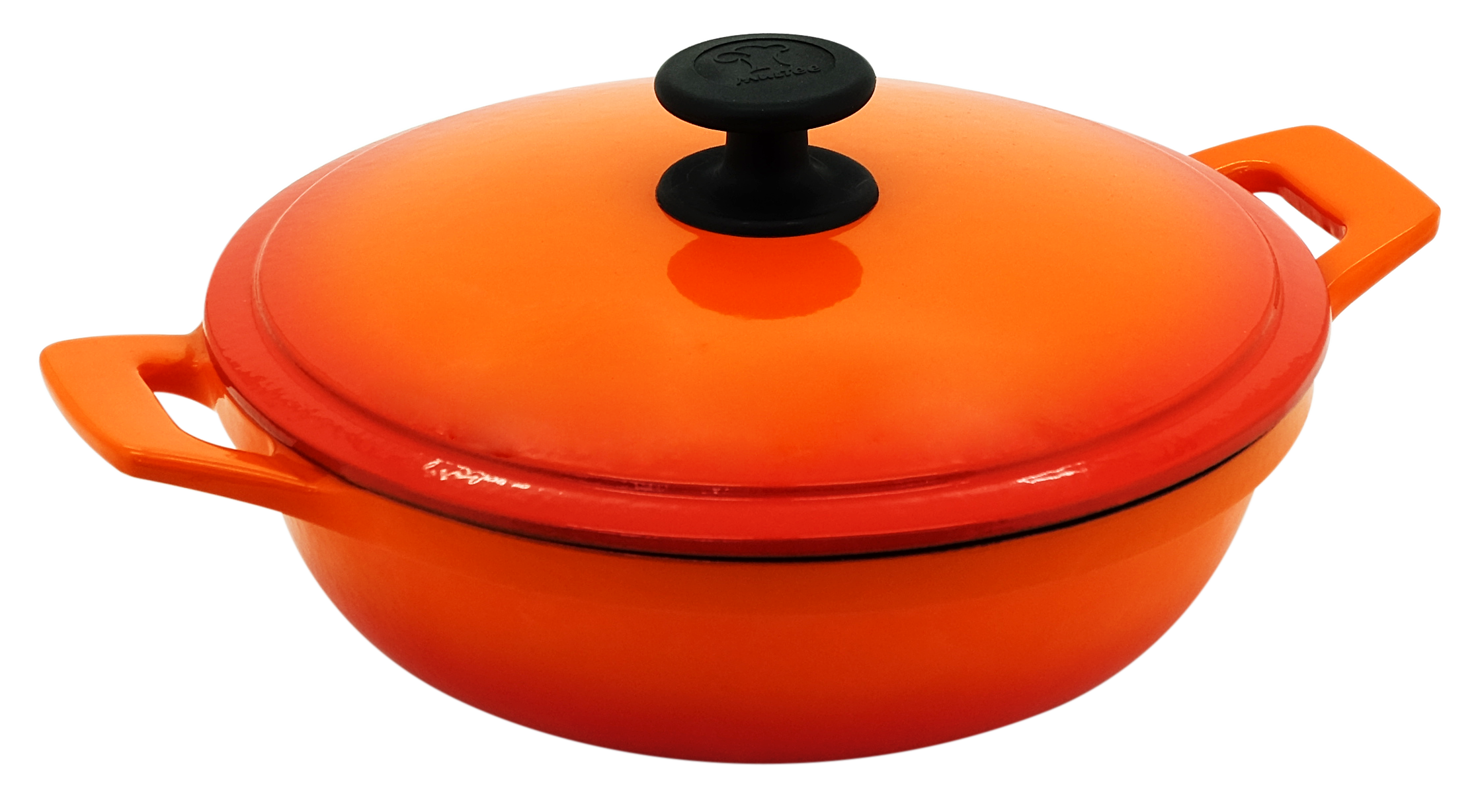 24cm鑄鐵媽媽鍋-漸層橘