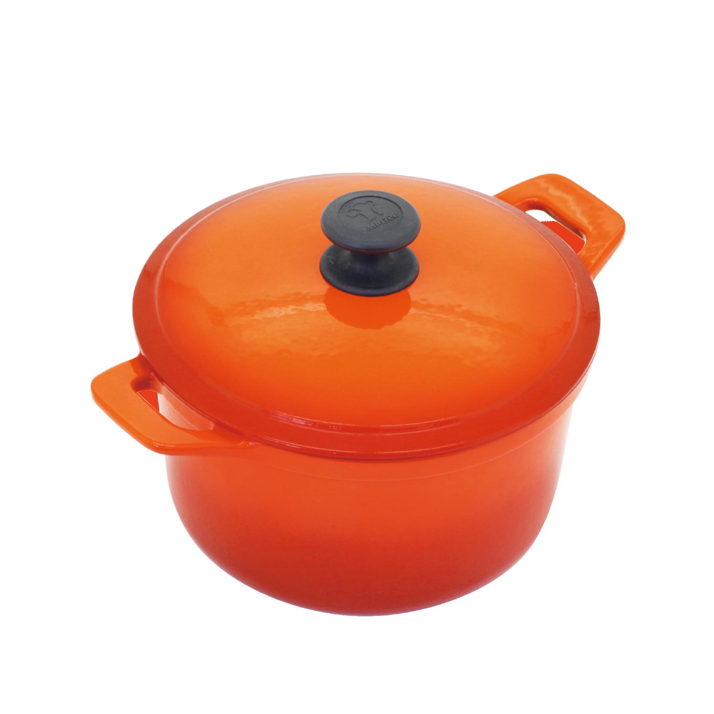 22cm圓鍋-橘