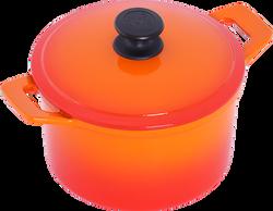 20公分鑄鐵圓鍋-漸層橘-俯-小