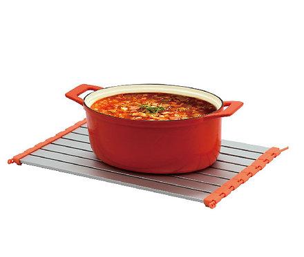45cm調整型鮮食解凍捲 X 瀝水架 X 降溫板【MULTEE摩堤_鑄鐵鍋系列用品】