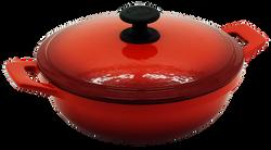 24cm鑄鐵媽媽鍋-漸層紅
