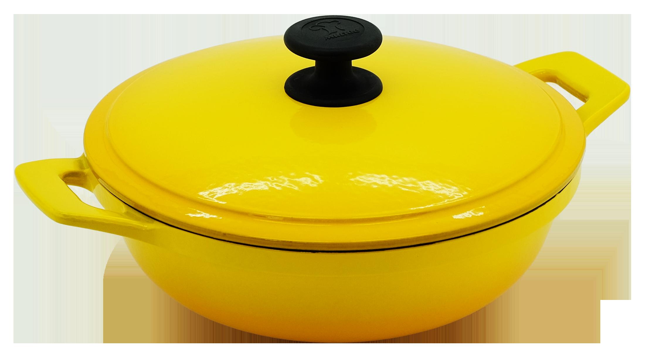24cm鑄鐵媽媽鍋-漸層黃