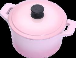20cm圓鍋-晶鑽粉(側)