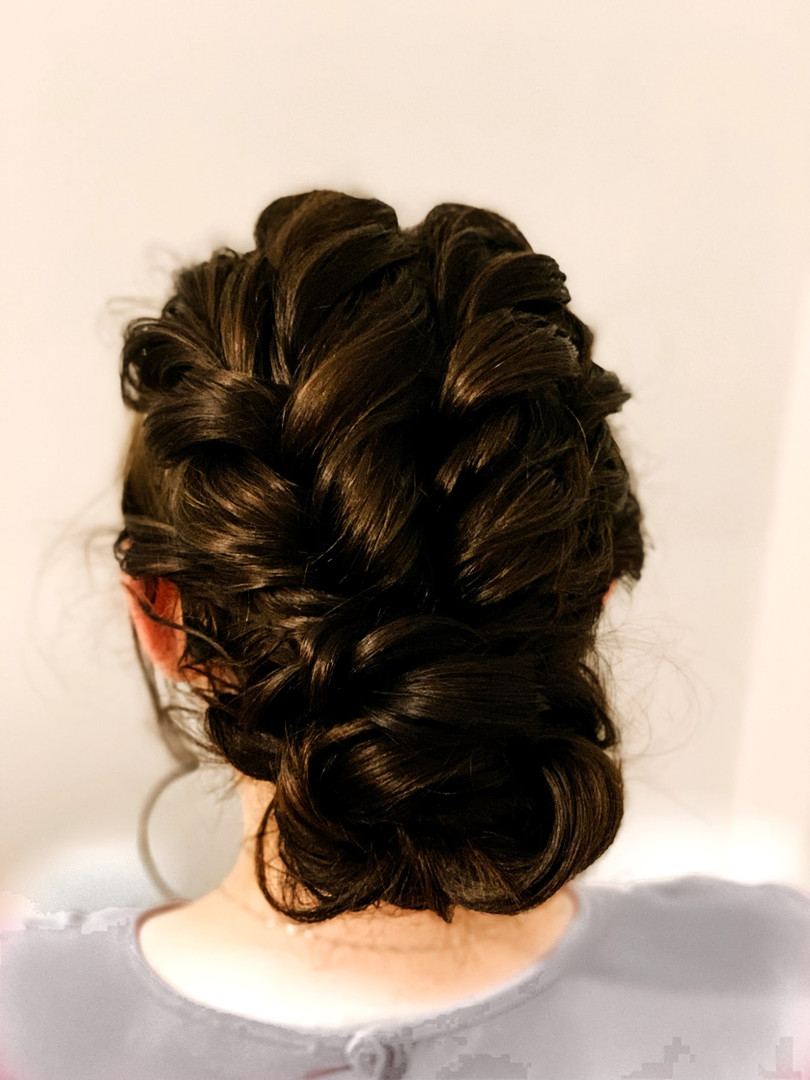 Low textured updo
