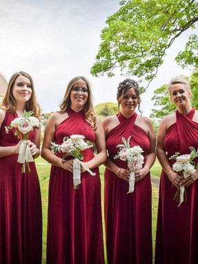 Bridesmaids styling wedding