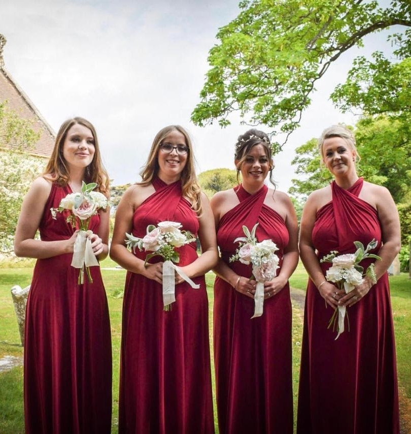 Bridesmaids styling wedding