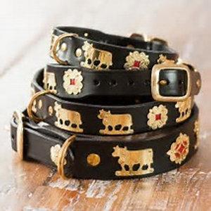 Appenzeller Hunde-Halsband 3,5cm breit, Leder