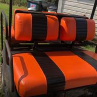 Club Car Pre 2000 Orange With Black Stripes