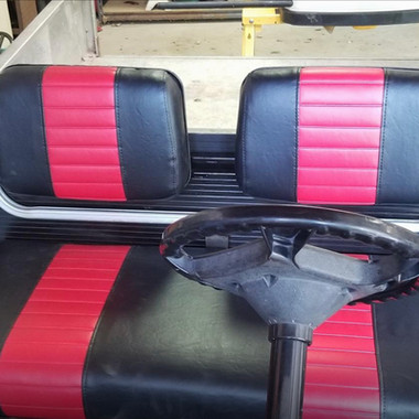 Club Car Ds Pre 2000 - Black With Red Stripes