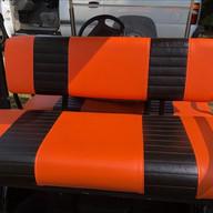 Rear Seat Orange With Black Stripes