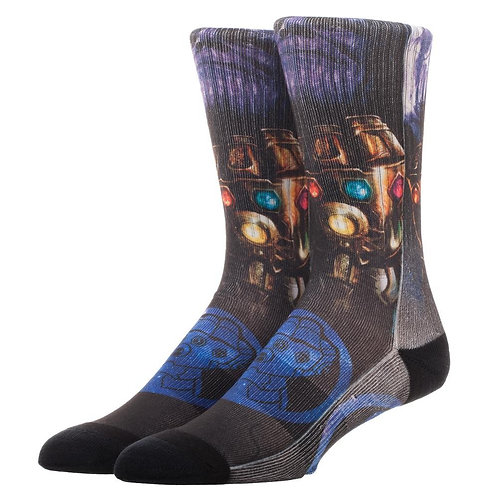 Marvel Avengers: Infinity War Thanos Sublimated Crew Sock