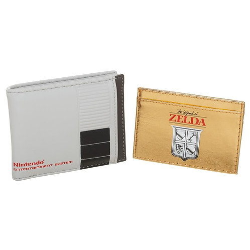 Nintendo 2 in 1 Bifold Wallet with Zelda Cartridge Card Holder