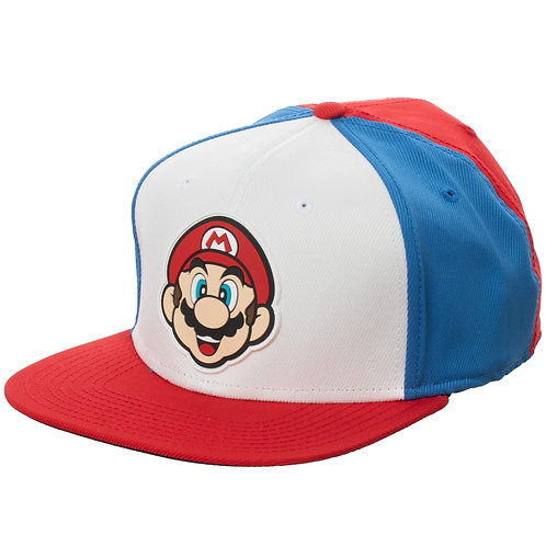 Mario Rubber Patch Colorblock Snapback