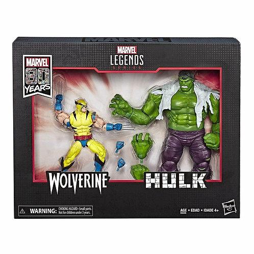 """Marvel Legend Wolverine and Hulk 6"""" Action Figures"""