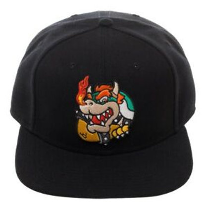 Super Mario BOWSER Snapback Hat Cap Officially Licensed Nintendo Enemy Villain