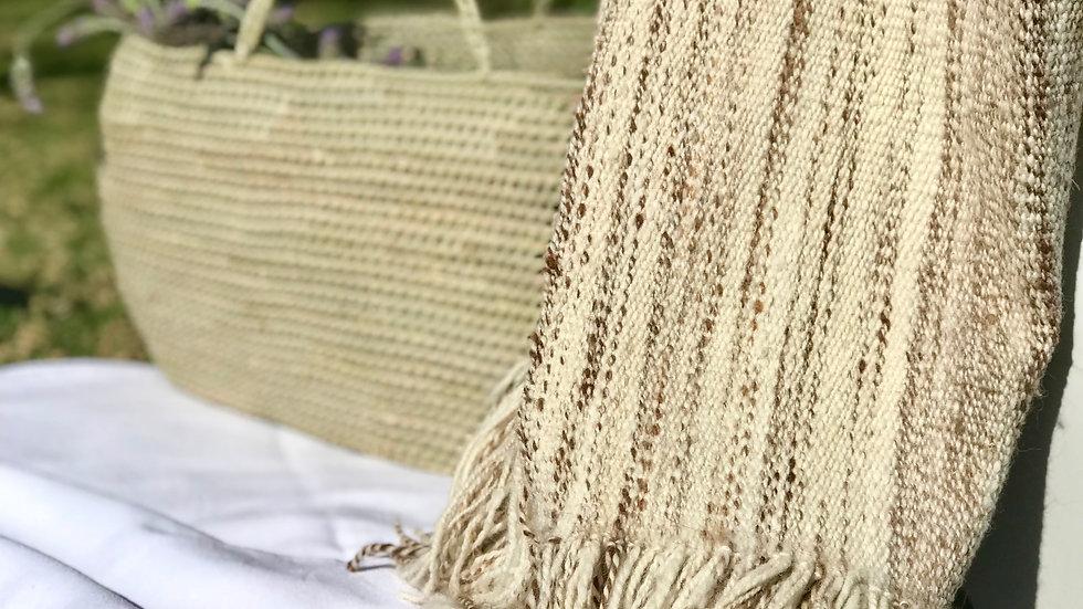 Manta jaspeada de lana de llama