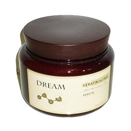 מסכת קרטין לשיער יבש ופגום dream keratin hair mask