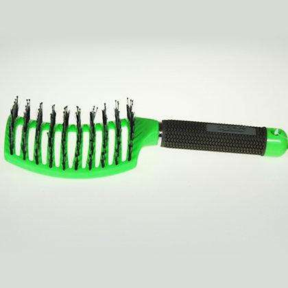 מברשת שיער כף יד ירוקה (סליידר) להתרת קשרים