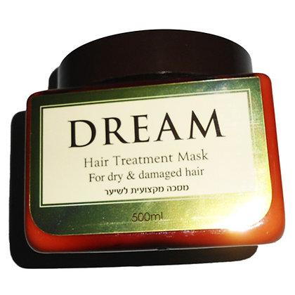 מסכה מקצועית לשיער צבוע ופגום dream mask