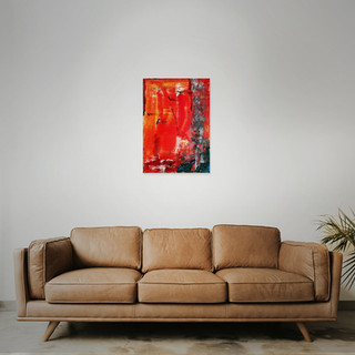 SOLD  #2 Mixed media: acrylic & oil   60cm x 40cm x 2cm £125