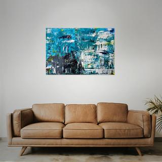 SOLD  #13 Mixed media: acrylic & oil   100cm x 70cm x 2cm £200
