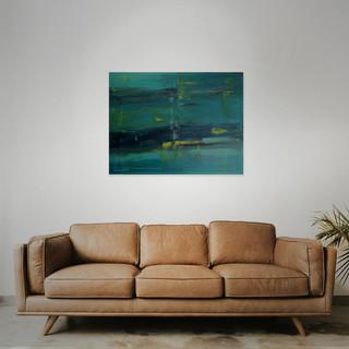 SOLD  #4 Mixed media: acrylic & oil  80cm x 60cm x 2cm £275