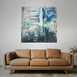 FOR SALE  #12 Mixed media: acrylic & oil   100cm x 100cm x 2cm £325